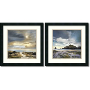 Sense of Direction and Sweet Illusion by William Vanscoy: 18 x 18 Print Reproduction, Set of Two