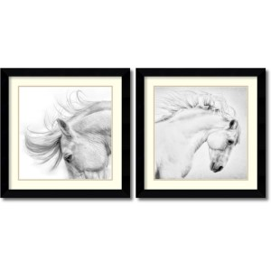 Flair and Attitude by Phyllis Bruchett: 24.63 x 24.63 Print Reproduction, Set of Two