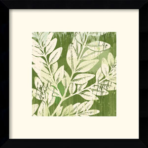 Meadow Leaves by Erin Clark: 13 x 13 Framed Print