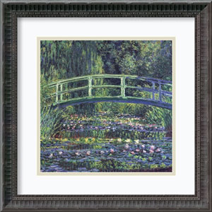 Water Lily Pond, 1899 by Claude Monet: 19 x 19-Inch Framed Art Print