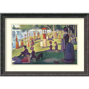 Sunday Afternoon on the Island of La Grande Jatte by Georges Seurat: 24.06 x 17.31 Print Reproduction