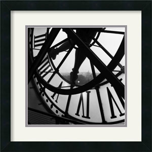 Orsay Clock by Tom Artin: 18 x 18 Framed Print