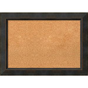 Signore Bronze, 29 x 21 In. Framed Cork Board