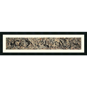 Number 10, 1949 by Jackson Pollock: 42 x 12-Inch Framed Art