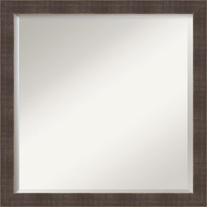 Whiskey Brown Rustic Square Mirror: 22 x 22-Inch Wall Mirror