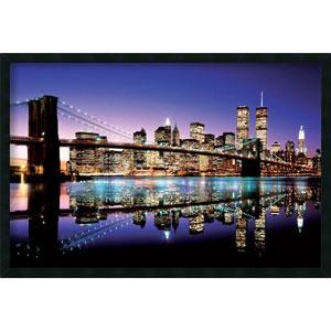 Brooklyn Bridge - Color: 37.4 x 25.4 Print Framed with Gel Coated Finish