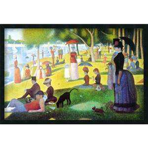 La Grande Jatte by Georges Seurat: 37.4 x 25.4 Print Framed with Gel Coated Finish