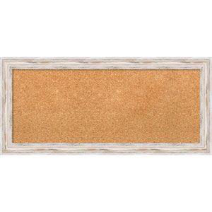 Alexandria White Wash, 34 x 16 In. Framed Cork Board