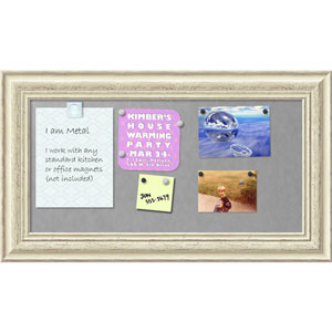Country White Wash, 29 x 17 In. Framed Magnetic Board