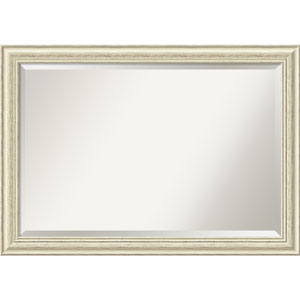 Country White Wash, 41 x 29 In. Framed Mirror