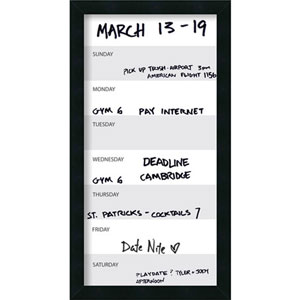 Mezzanotte 14 x 26-Inch Vertical Dry-Erase Week Calendar