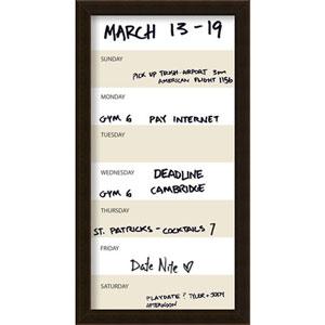 Coffee 14 x 26-Inch Vertical Dry-Erase Week Calendar