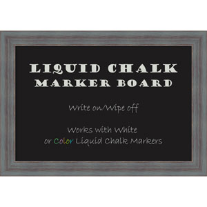 Dixie Grey Rustic, 20 x 14 In. Framed Liquid Chalk Board