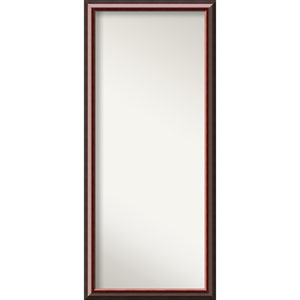 Mahogany Wood: 28 x 64-Inch Floor Mirror