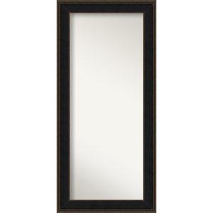 Mezzanine Espresso Wood: 32 x 68-Inch Floor Mirror