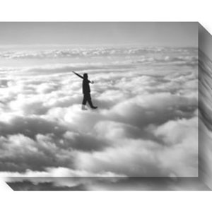 Walk in the Clouds by Urban Cricket: 21 x 17-Inch Canvas Art