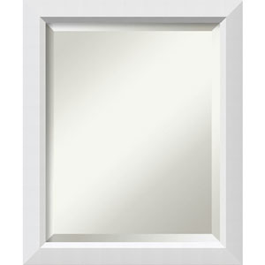 White 19 x 23-Inch Medium Vanity Mirror