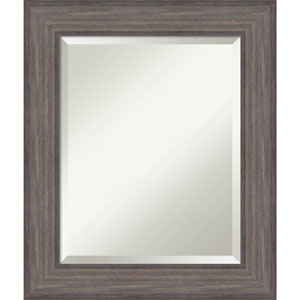Country Barnwood, 22 x 26 In. Framed Mirror