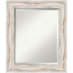 Distressed White Wash 21 x 25-Inch Medium Vanity Mirror