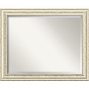 Cream White Wash 32 x 26-Inch Large Vanity Mirror
