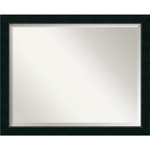 Satin Black 31 x 25-Inch Large Vanity Mirror