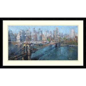 Brooklyn Bridge by Mark Lague, 29 x 17 In. Framed Art