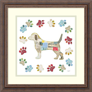 Good Dog IV Sq with Border by Courtney Prahl, 19 x 19 In. Framed Art
