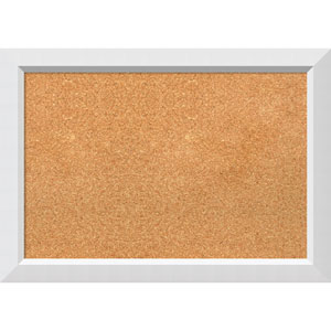 Blanco White, 27 x 19 In. Framed Cork Board