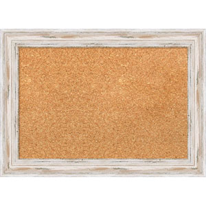 Alexandria White Wash, 22 x 16 In. Framed Cork Board