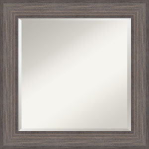 Country Barnwood, 26 x 26 In. Framed Mirror