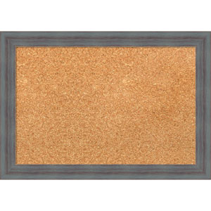 Dixie Grey Rustic, 20 x 14 In. Framed Cork Board