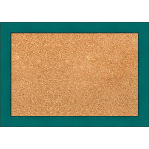 French Teal Rustic, 20 x 14 In. Framed Cork Board