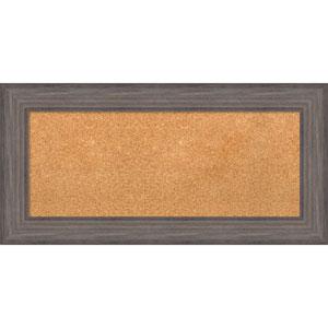 Country Barnwood, 36 x 18 In. Framed Cork Board