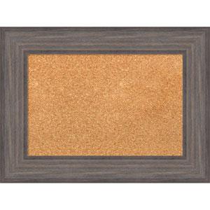 Country Barnwood, 24 x 18 In. Framed Cork Board