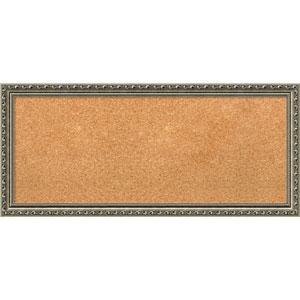 Parisian Silver, 33 x 15 In. Framed Cork Board
