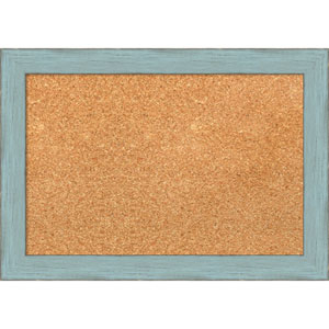 Sky Blue Rustic, 21 x 15 In. Framed Cork Board