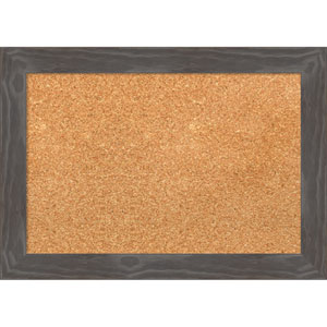 Woodridge Rustic Grey, 21 x 15 In. Framed Cork Board