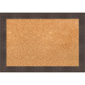 Whiskey Brown Rustic, 20 x 14 In. Framed Cork Board