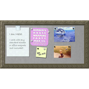 Barcelona Thin Champagne, 26 x 14 In. Framed Magnetic Board