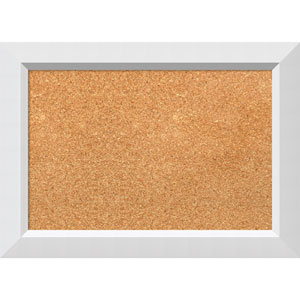 Blanco White, 21 x 15 In. Framed Cork Board