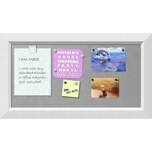 Blanco White, 27 x 15 In. Framed Magnetic Board