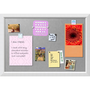 Blanco White, 39 x 27 In. Framed Magnetic Board