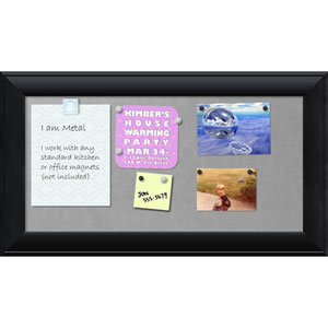 Nero Black, 28 x 16 In. Framed Magnetic Board