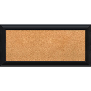 Nero Black, 34 x 16 In. Framed Cork Board