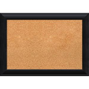 Nero Black, 28 x 20 In. Framed Cork Board