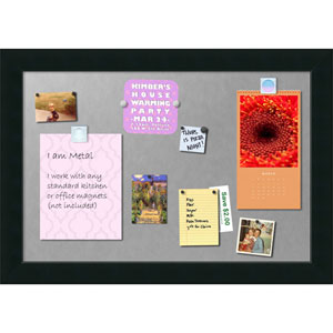 Corvino Black, 41 x 29 In. Framed Magnetic Board