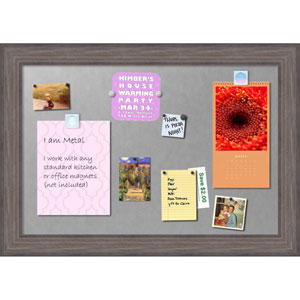 Country Barnwood, 42 x 30 In. Framed Magnetic Board