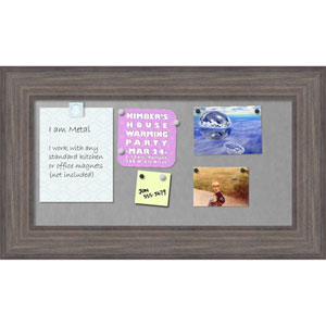 Country Barnwood, 30 x 18 In. Framed Magnetic Board