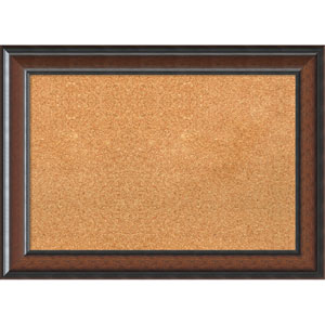 Cyprus Walnut, 29 x 21 In. Framed Cork Board