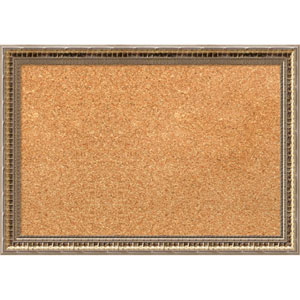 Fluted Champagne, 20 x 14 In. Framed Cork Board